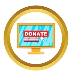 Donate online concept icon vector