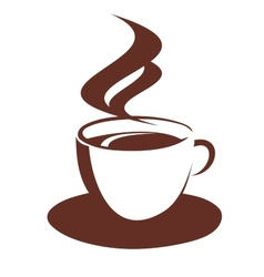Doodle sketch of steaming coffee cup vector image