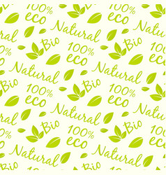 Eco products seamless pattern design bio natural vector