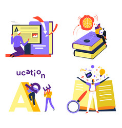 Education and development improvement of skills vector
