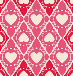 Endless Heart shape seamless pattern for printing vector image