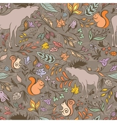 Fall Forest Pattern vector
