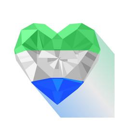 flat style logo symbol of love sierra leone vector image