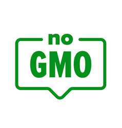 Gmo free icon food product package label no gmo vector
