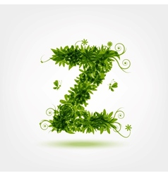 Green eco letter Z for your design vector