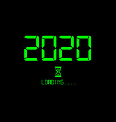 happy new year 2020 loading icon digital style vector image