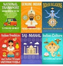 India Poster Set vector