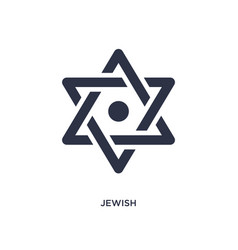Jewish icon on white background simple element vector