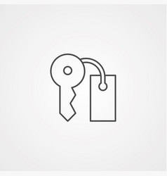 key icon sign symbol vector image