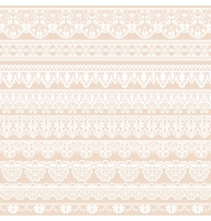 lace borders vector image