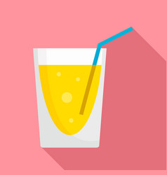 lemonade cocktail icon flat style vector image