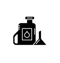 machine oil black icon sign on isolated vector image