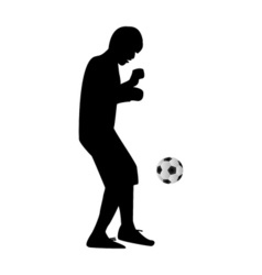 Man kicking soccer ball vector