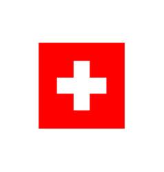 Medicine red logo template design vector