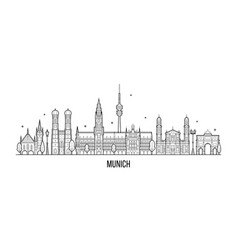 Munich skyline germany city buildings vector