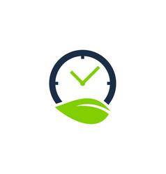 nature time logo icon design vector image