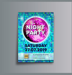 night party background template designed for vector image