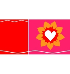 Of Heart In Pink and red Background vector image