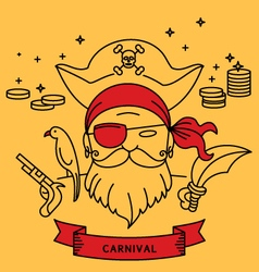 PIRATE CARNIVAL COSTUME OUTFIT vector image