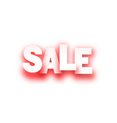 red sale paper sign on white background vector image