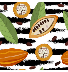 seamless pattern with cocoa vector image