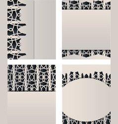 Set of different types of templates vector
