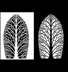 silhouettes symmetrical trees vector image