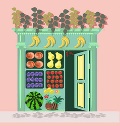 Small fruit store vector