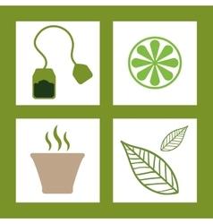 Tea time design vector image