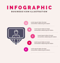 User profile id login solid icon infographics 5 vector
