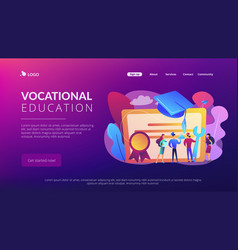 vocational education concept landing page vector image