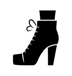 Women lita shoes glyph icon vintage ladies boots vector