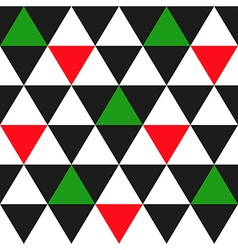 Black White Red Green Triangle Background vector image vector image