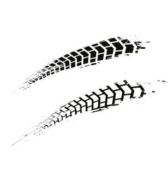 grunge motorcycle tire vector image