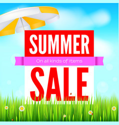 sale an all kinds of items summer hot discounts vector image