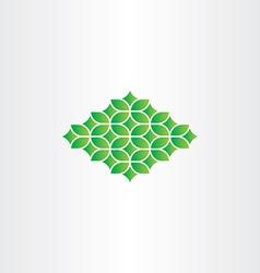 spring green pattern design element vector image vector image