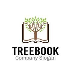 Tree Book Design vector image