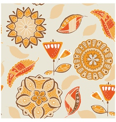 vintage floral patterns vector image vector image