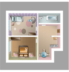 modern graphic apartment top view vector image