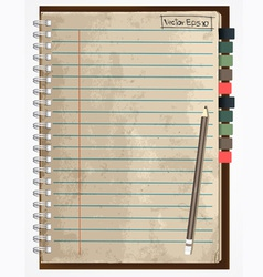 old paper notebook vector image