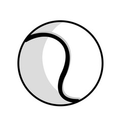 figure ball to play tennis icon vector image vector image