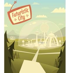 Futuristic city vector image vector image