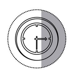 monochrome contour with circle sticker of wall vector image