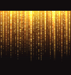 sparkly gold glitter effect with falling down vector image vector image