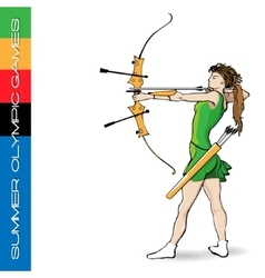 Summer Olympic games archery vector image