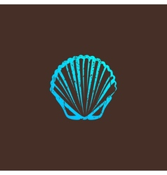 vintage with a shell vector image vector image