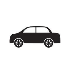 car vehicle transport wheel pictogram vector image