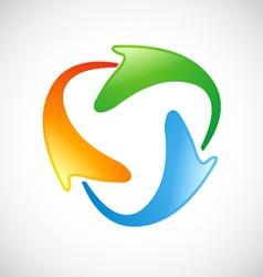 circle technology color logo vector image