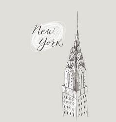new york building doodle set american travel vector image