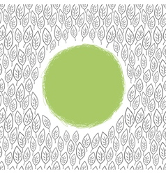 outline leaf background with space for text vector image vector image